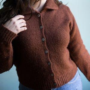 Vintage Cardigan - Merino Wool, Mohair, Alpaca